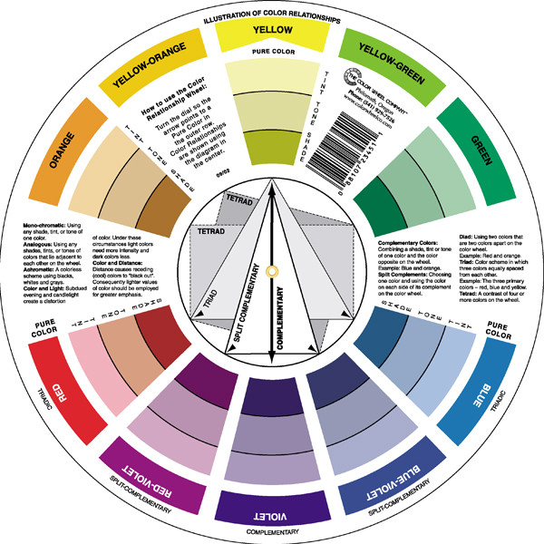 It is a picture of Printable Color Wheel Pdf for color combination