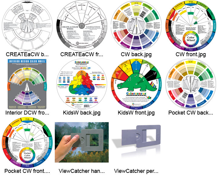 It is a picture of Printable Color Wheel Pdf in coloring